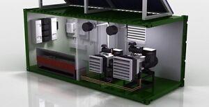 Panneaux solaires et génératrices industrielle
