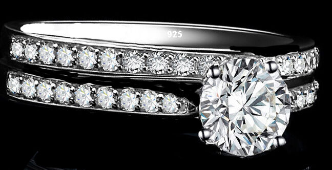 2ct  Real 925 Sterling Silver Wedding AAA CZ Ring Women's Band sz 4-11.5     3