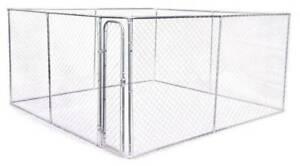 4mx4mx1.8m Dog Kennel Run & Pet Enclosure Run Animal Fence
