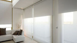 2 New Ikea Block Out Roller Blinds - White // 2 Stores a rouler