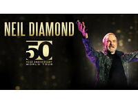 5TH ROW Neil Diamond Tickets Gentry Arena Birmingham 15/10/17