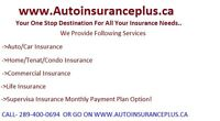 Auto Inaurance/Home Insurance/Supervisa Ins Monthly Pay Option!