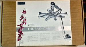 BRAND NEW ONDINE 8inch Dia. SHOWER- HEAD RAINSTAR WITH SWAN ARM