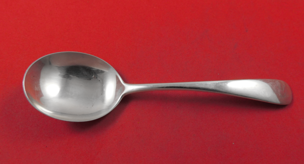 """Louis XV by Whiting Sterling Silver Bouillon Soup Spoon Flat Gold Washed 5/"""""""