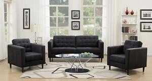 Midnight Grey Fabric SOFA AND LOVESEAT Weekend Offer!