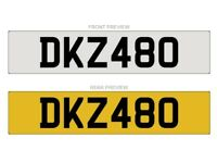 DKZ 480 - Cherished Number plate for sale