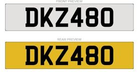 DKZ480 Cherished Number plate for sale