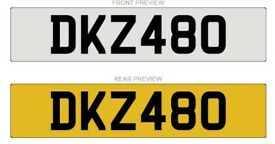 DKZ480 NUMBER PLATE FOR SALE