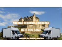 Van man Edinburgh storage clearances , long distance, short notice