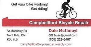 Bicycle assembly, repairs and tune ups. Campbellford.