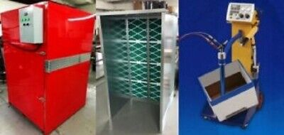 Powder Coat Complete Turnkey System Includes Oven 4x4x6 Box Feeder Spray Booth