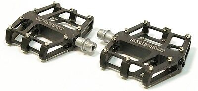 Exustar E-PB 525 MTB BMX Fahrrad Pedale DH FX FR Flat Pedal Paar Schwarz Neu
