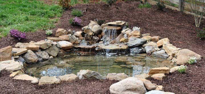 American Pond Freedom Series DIY 8 x 11 Medium Backyard Pond Kit  - APFMD8x11