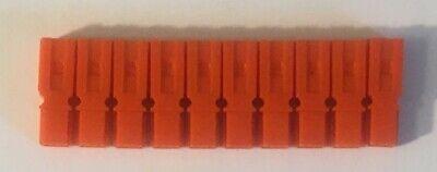 10 Pack Authentic Anderson Powerpole Orange Housing 1327g17 Power Pole