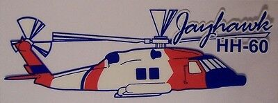 Window Bumper Sticker Military Coast Guard Helicopter Hh 60 Jayhawk New Decal