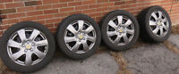 Winter Snow Tires set of 4 On Steal Rims