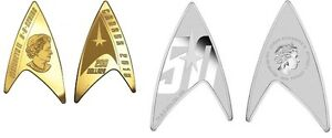 2016 Canada $200 Delta Gold Coin and Tuvalu $1 Star Trek 1 oz