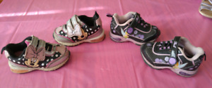 Size 5 Toddler Minnie Mouse and Tinkerbell Sneakers