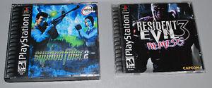 Lot of 2 Playstation 1 PS1 Games, Resident Evil 3, Syphon Filter Cambridge Kitchener Area image 1