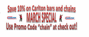 Carlton Chainsaw Chains and Bars Are On Sale Now!!!
