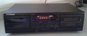 Vintage Pioneer Stereo Double Cassette Deck