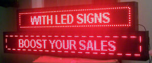 LED SIGNS, Scrolling , Programmable, Moving LED SIGNS