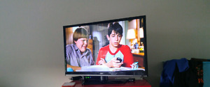 """32 """" LED TV LG with TV stand"""