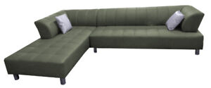 BLOWOUT L-shape sectional sofa in Italian leather (Yves)