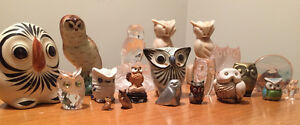 Owl figurine collection
