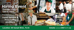 Perth HIRING EVENT • Restaurant • Grocery • Retail • Fast Food •