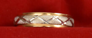 18kt Yellow and White Gold Ring
