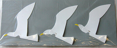 Flensted THREE SOARING SEAGULLS Modern Hanging Baby Mobile Art FREE SHIPPING NEW