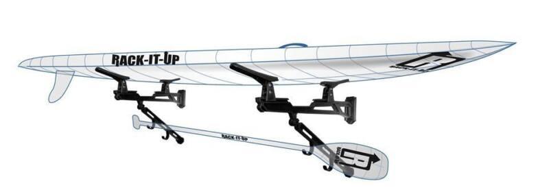 Kayak , Wave Ski , Race SUP Rack It Up Kayak Wall Black Rack NEW Free Shipping