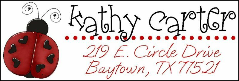 ~CUTE RED & BLACK LADYBUG~  Return Address Labels!
