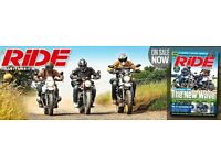 Ride magazines for sale.
