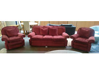 Feather filled sofa with 2 armchairs (delivery available)