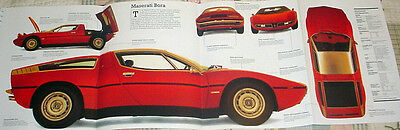 HUGE! MASERATI BORA POSTER car auto picture print automobile