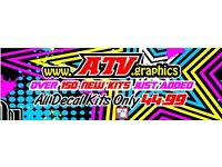 Affordable Quality Quad, MX, Road Bike Decal Sticker Kits - FREE Name, Number & Delivery
