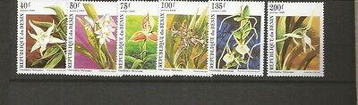 BENIN FLOWERS SCOTT 795-800 MNH SCV $5