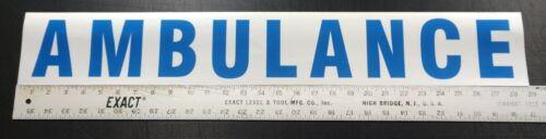 """Reflective Ambulance Decal Sticker 28.75""""x4.25"""""""