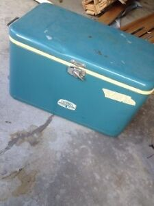 Vintage Blue Thermos Cooler