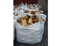 Seasoned hardwood logs 1ton builders bag £60 x2= £100 x3= £130 free shipping and stacking