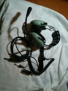 Aviation headset H10-20 avec bouton push to talk C10-15