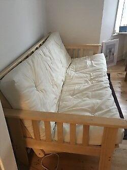 Argos 3 Seater Sofa Bed Cream Good Condition
