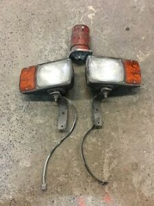 WESTERN PLOW LIGHTS AND ELECTRIC PUMP MOTOR