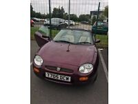 MGF Sports car, Beige leather interior, recent MOT, £550 just spent, Good runner.