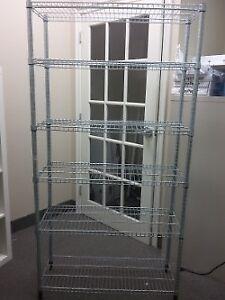 5 shelves heavy rods shelving unit