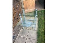 Glass table for free in good condition