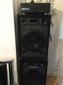 Kam speakers for sale comes with the yamaha audio system- £350