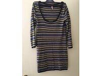 White stuff stripy jumper dress - in excellent condition